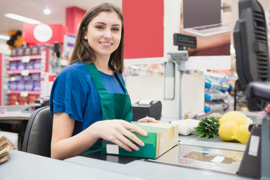 Operador de Caixa de Supermercado, Lotérica e Loja